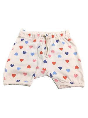 Шорты пижамные розового цвета в принт | 5660940