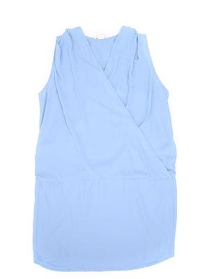 Платье для кормящих мам голубого цвета | 5660971