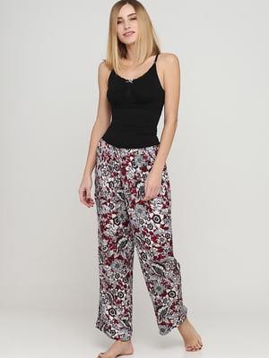 Брюки пижамные в цветочный принт | 5660976
