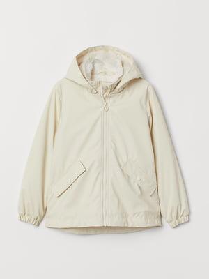 Куртка-дождевик бежевого цвета | 5660500