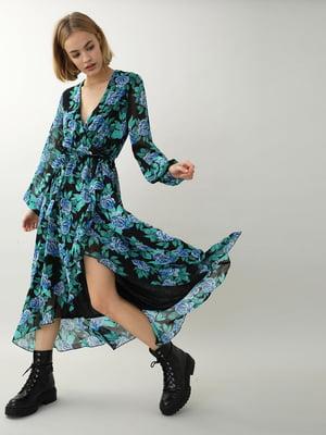 Сукня різнокольорова в квітковий принт | 5661688