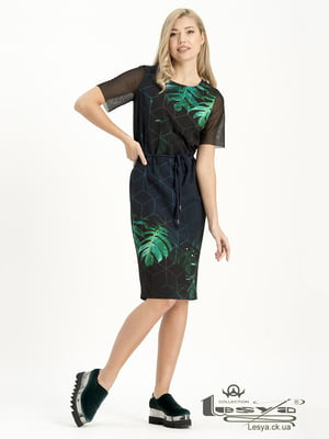 Платье разноцветное в принт | 4973709