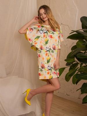 Платье желтое в цветочный принт | 5125143