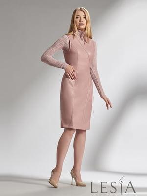Гольф розовый с узором | 5304092