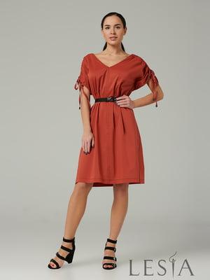 Сукня теракотового кольору | 5508740