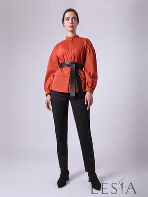 Блуза теракотового кольору | 5533075