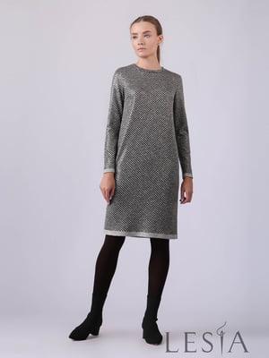 Сукня сіра в принт | 5593398