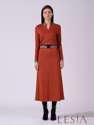 Платье терракотового цвета   5661838