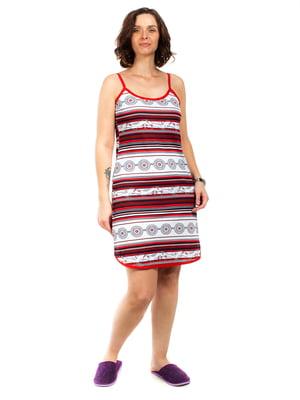 Сукня домашня різнокольорова в смужку | 5653021