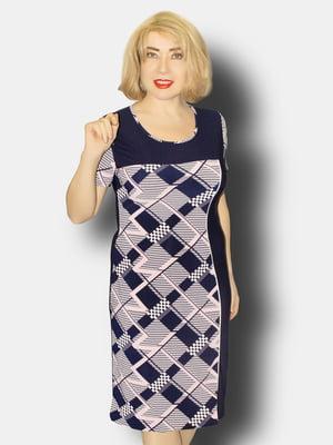 Платье синее в клетку | 5661979