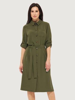 Сукня кольору хакі | 5662369