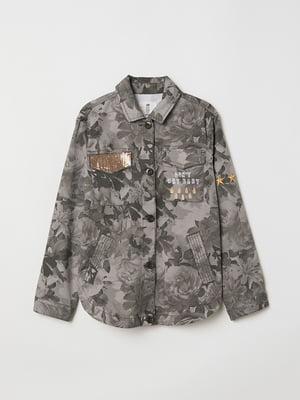 Рубашка в цветочный принт | 5662473
