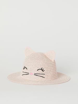 Шляпа бежевого цвета с рисунком   5662495