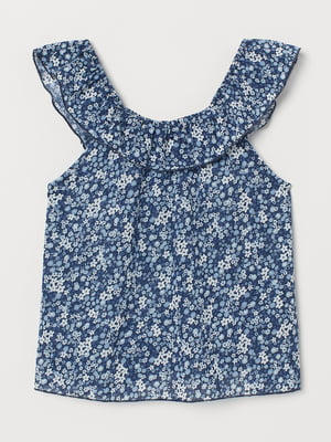 Сукня синя в квітковий принт | 5662581