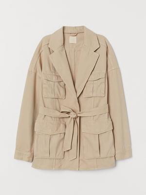 Куртка бежевого кольору | 5662605