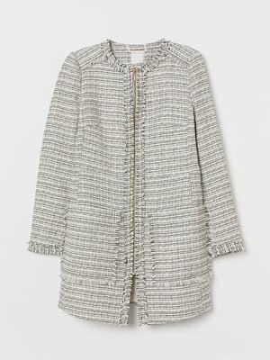 Пальто чорно-біле | 5662609