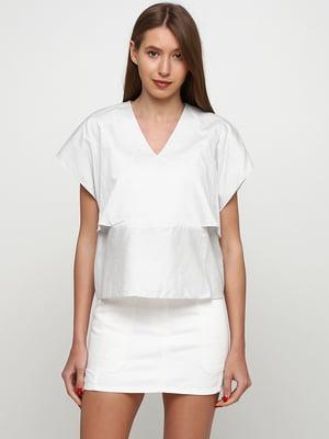 Блуза белая в полоску | 5662625