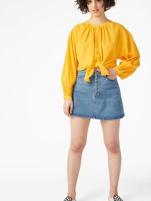 Блуза-рубашка желтая | 5662637
