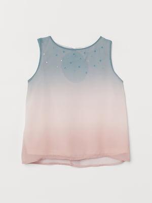 Блуза двоколірна з переливом   5662639