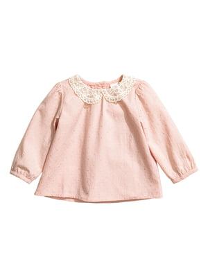 Блуза розового цвета с декором   5662644