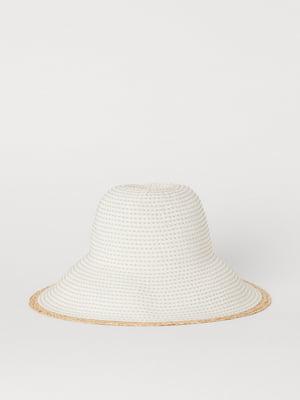 Шляпа белая с узором   5662649