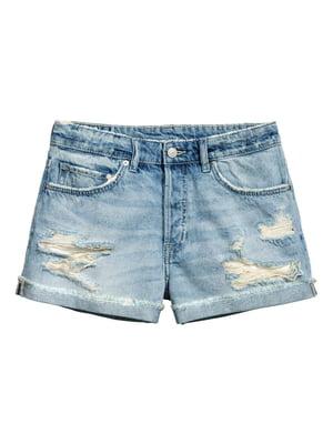 Шорты джинсовые голубого цвета | 5662671
