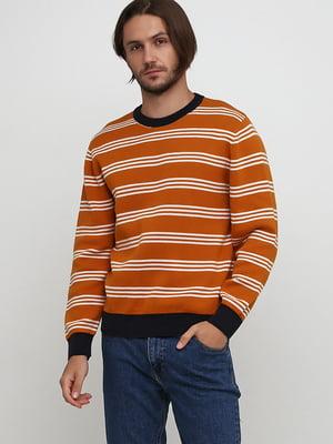 Джемпер двухцветный в полоску | 5662758