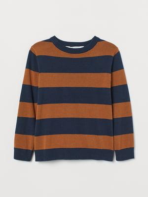 Джемпер двухцветный в полоску | 5662760