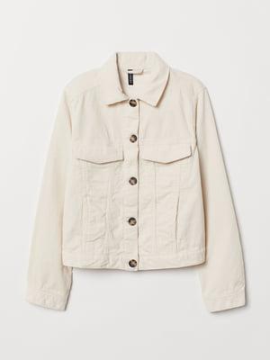Куртка-жакет молочного цвета | 5662779
