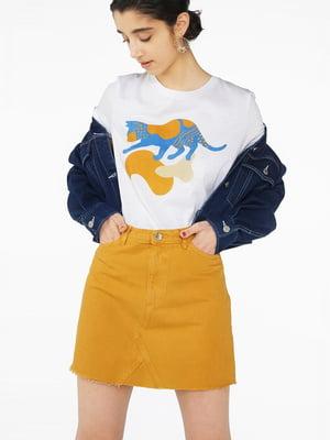 Спідниця джинсова пісочного кольору   5662835