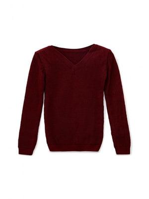 Пуловер бордовый | 5663241