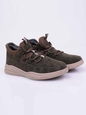 Ботинки цвета хаки | 5650111
