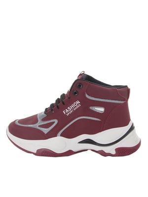 Ботинки бордовые | 5663285