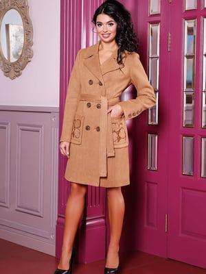 Пальто коричневе | 5663307