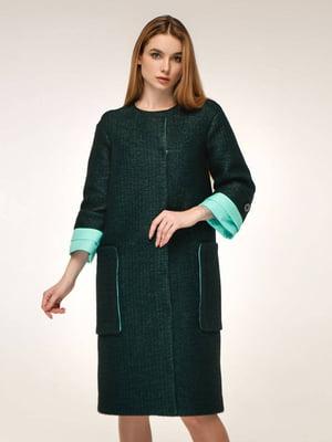 Пальто темно-зелене | 5663312