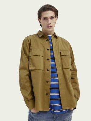 Рубашка коричневая   5647379