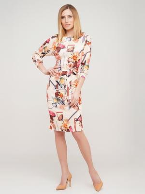 Платье в цветочный принт | 5663613