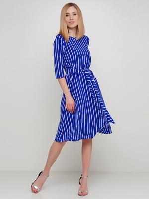 Сукня синя в смужку | 5663616
