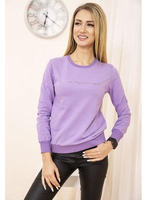 Свитшот фиолетовый с принтом   5663704