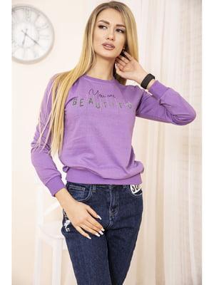 Свитшот фиолетовый с принтом   5663747