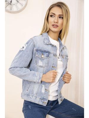 Куртка голубая джинсовая | 5663884