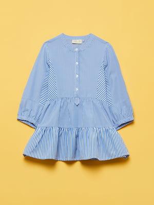 Рубашка синяя в полоску | 5651041