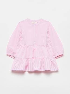 Рубашка розового цвета в полоску | 5651042