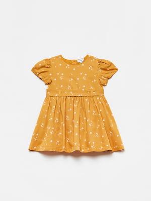 Платье терракотового цвета в цветочный принт | 5651139