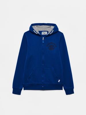 Толстовка синя з логотипом | 5651189