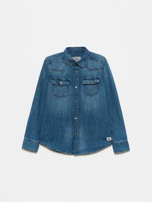 Рубашка джинсовая синяя | 5651191