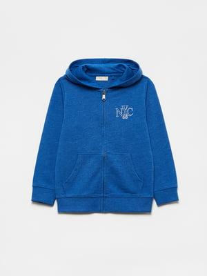 Толстовка синяя с логотипом | 5651199