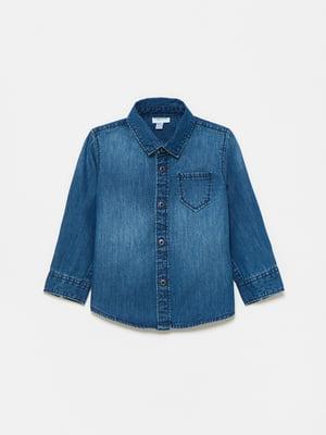 Рубашка джинсовая синяя | 5651206