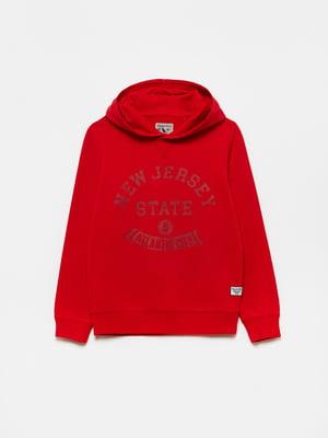 Худі червоного кольору з логотипом | 5651247