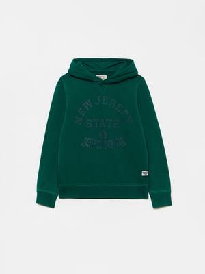 Худі зеленого кольору з логотипом | 5651248